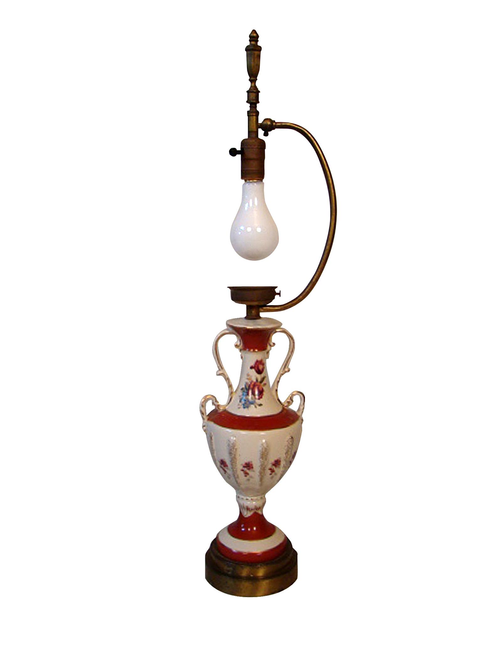 European Porcelain Vase Lamp