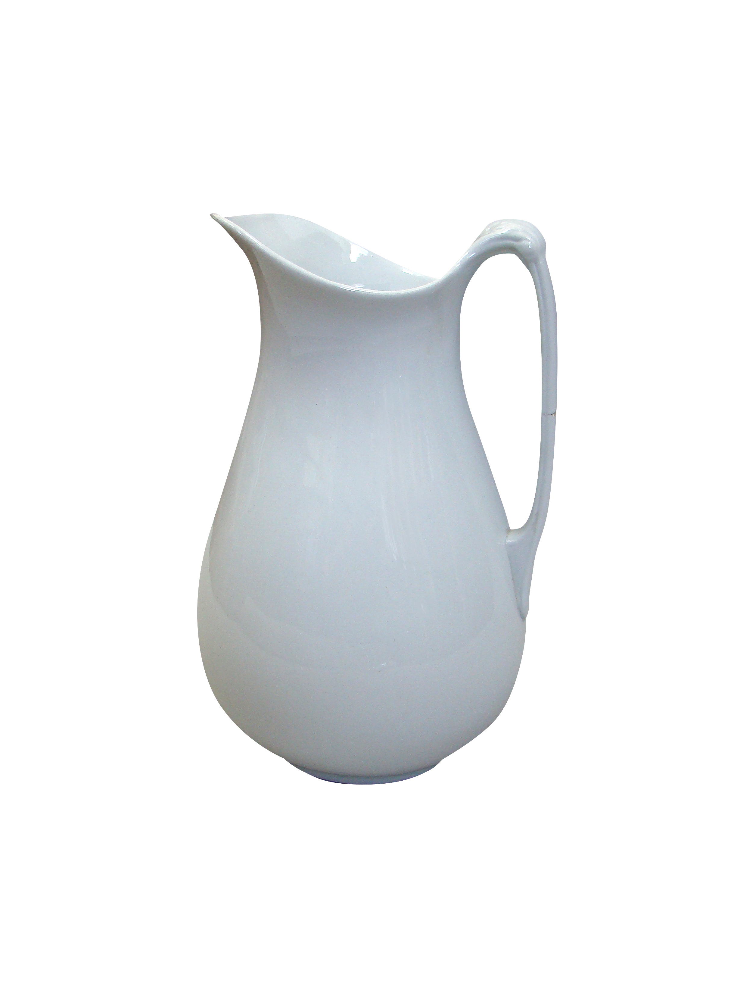 French Vintage White Pitcher
