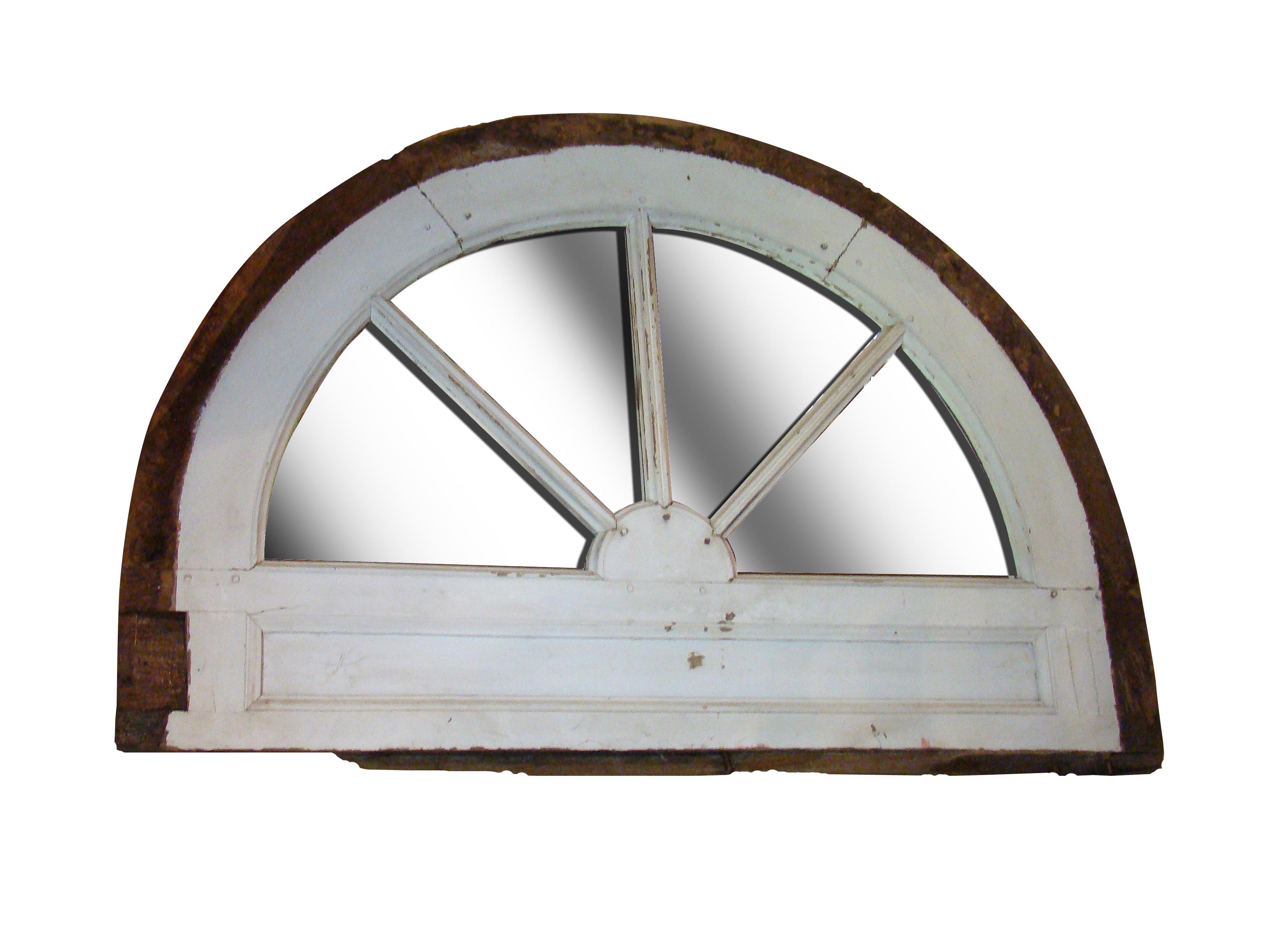 Half - round Barn Window Mirror