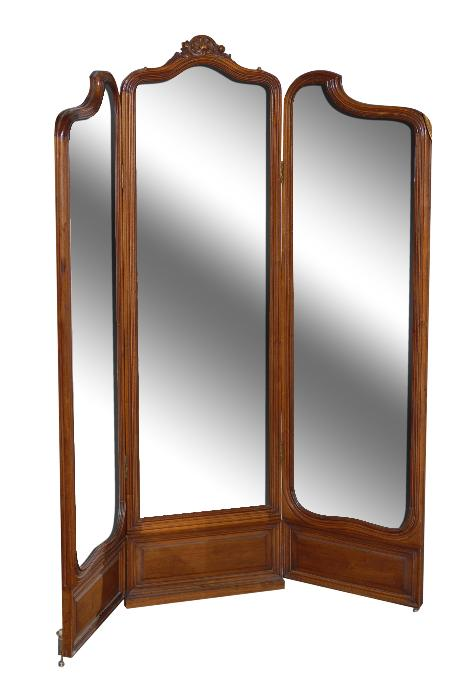 3 panel screen mirror le barn antiques stamford ct for Mirror screen