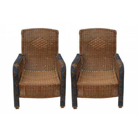 2-wicker french antique wicker armchairsblueborderpair4[1]
