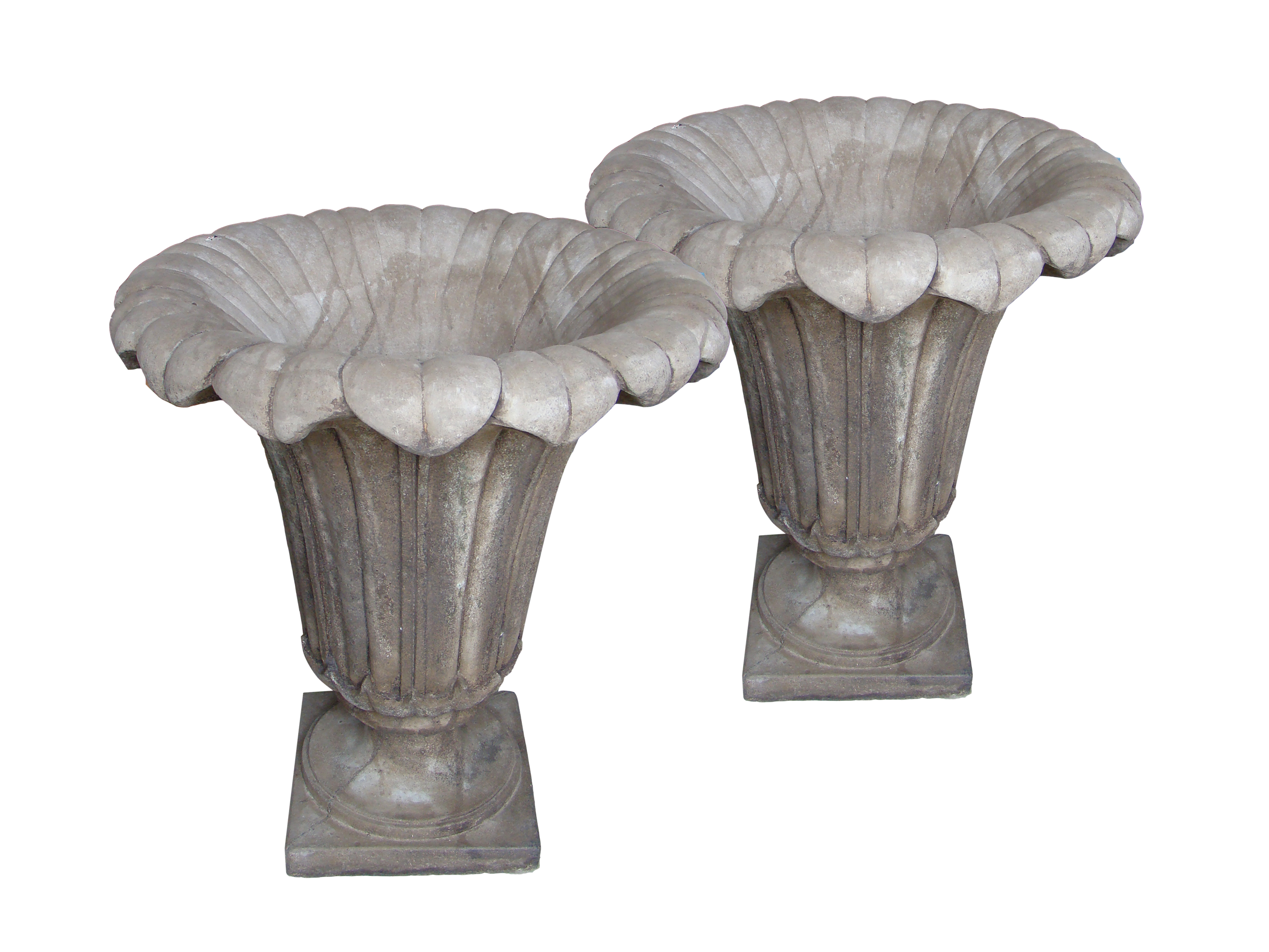 French stone urnes pair large2