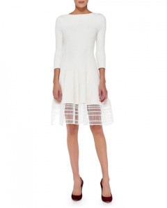 Lela Rose Dress with Railroad Lace
